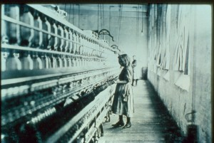 Child labour in a Victorian factory