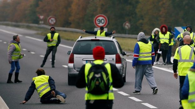 French Fuel Protests 2018-11