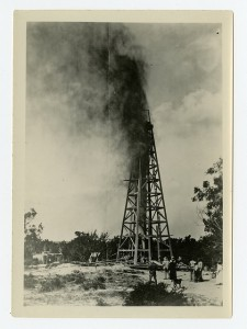 Early oil well and blowout