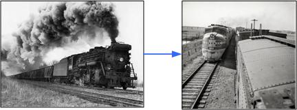 Transition from steam to diesel engines