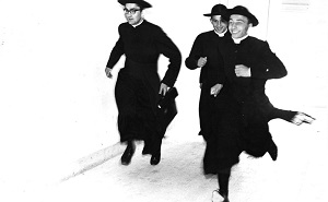 Priests in a hurry