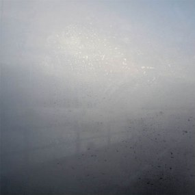 Foggy window illustrates that we cannot see the future in detail, but we can see an outline.