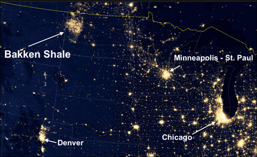 Shale gas flaring — North Dakota