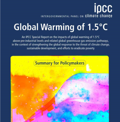 IPCC Report Global Warming of 1.5°C