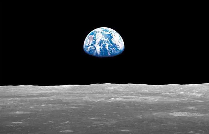 Earth rise taken from the moon