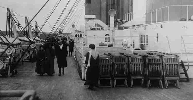 Deckchairs on the Titanic represent the actions of church leaders in a world impacted by climate change.